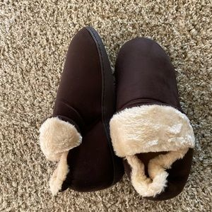 Men's Plush Warm Ankle Bootie Slippers